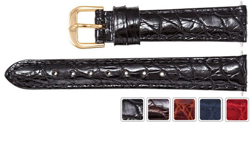 Watch Band - Crocodile Watch Strap Leather Band Padded