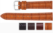 Watch Band - Alligator Watch Strap Leather Band In Matte