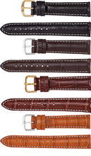 Watch Band Of Alligator Leather In Matte - Brand New