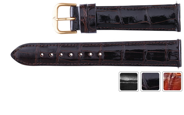 Watch Band - Alligator Watch Strap Leather Band For Men