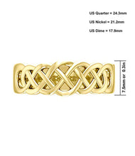 7.5mm Celtic Love Knot Wedding Band For Him - Top View
