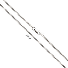 Franco Chain In Solid 14K White Gold - 1.5MM