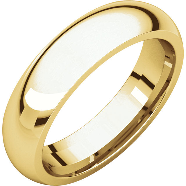 Groom Wedding Band - Half Round Ring With 5mm Width