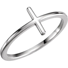 Ladies 14k Gold Cross Religious Christian Band Ring Master Piece