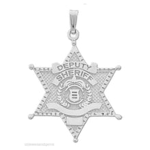 Police Necklace Of Silver In Deputy Sheriff - No Chain
