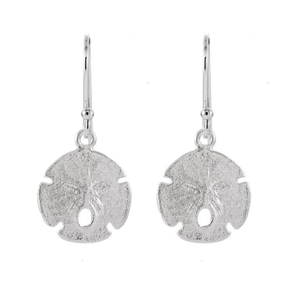 Dangle Earrings - Sand Dollar Earrings Sterling Silver