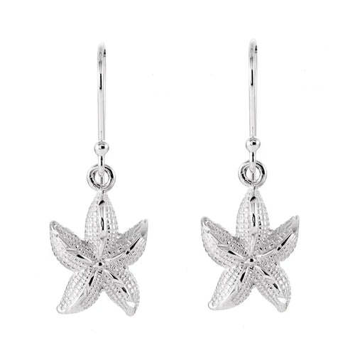 Sterling Silver Dangle Earrings - Starfish Earrings