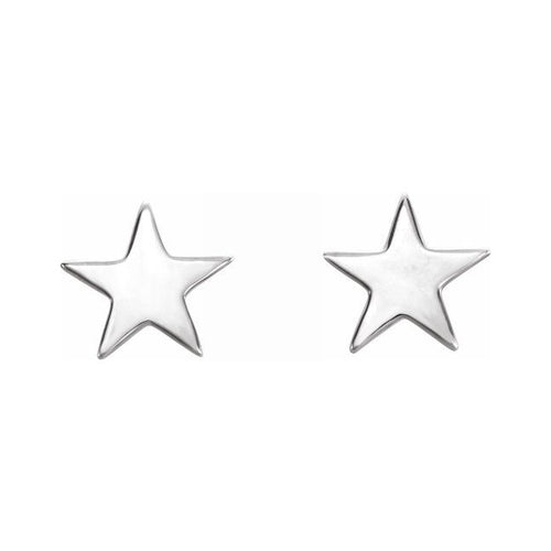 Stud Earrings - Star Stud Earrings In Sterling Silver