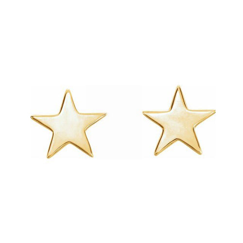 Gold Stud Earrings - Star Earrings With Friction Closure