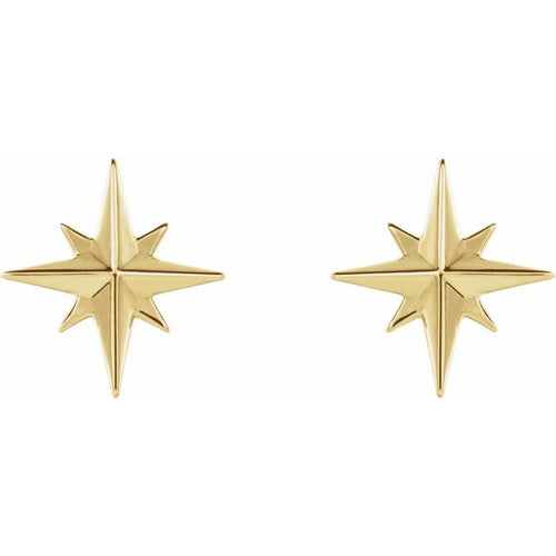 Gold Stud Earrings - Star Stud Earrings For Ladies