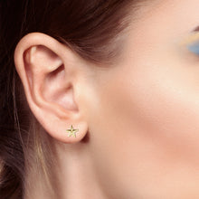Stud Earrings In Starfish Design For Ladies - Worn On Ear