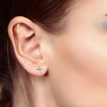 Stud Earrings With Starfish Design - Worn On Ear