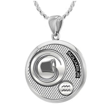 Aquarius Necklace In Silver - 1.50mm Rope Chain