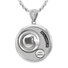 Aquarius Necklace In Silver - 2.3mm Rope Chain