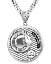 Aquarius Necklace In Round For Men - 4.1mm Cuban Chain