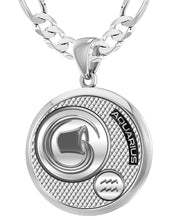 Aquarius Necklace In Round For Men - 5.2mm Figaro Chain