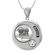 Aries Necklace In 925 Silver - 1.10mm Rope Chain