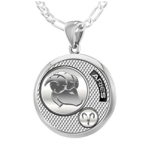 Aries Necklace In 925 Silver - 1.8mm Figaro Chain