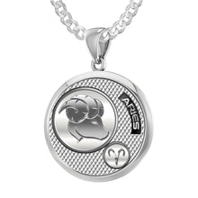 Aries Necklace In 925 Silver - 2.2mm Curb Chain