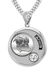 Aries Necklace In Round Shape - 4.1mm Cuban Chain