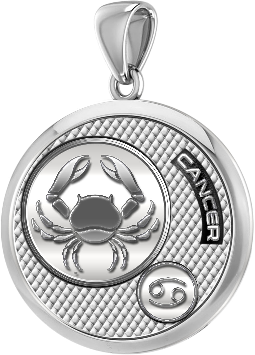 Zodiac Cancer Necklace In 925 Silver - Pendant Only