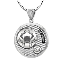 Zodiac Cancer Necklace In 925 Silver - 1.5mm Box Chain