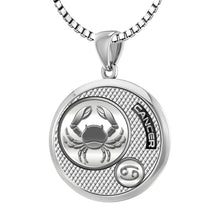 Zodiac Cancer Necklace In 925 Silver - 2.2mm Box Chain