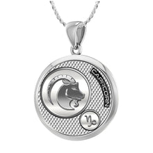 Capricorn Necklace In Silver  - 1.10mm Rope Chain