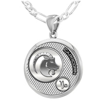 Capricorn Necklace In Silver - 2.3mm Figaro Chain