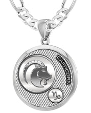 Capricorn Necklace In 925 Purity - 5.2mm Figaro Chain