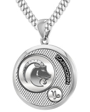 Capricorn Necklace In 925 Purity - 5.6mm Cuban Chain