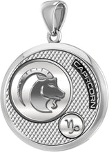 Capricorn Necklace In Silver - Pendant Only