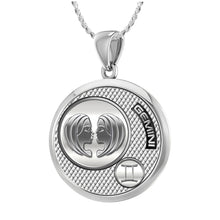 Gemini Necklace In 925 Sterling Silver - 1.10mm Rope Chain