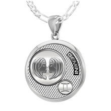 Gemini Necklace In 925 Sterling Silver - 1.8mm Figaro Chain