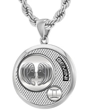 Gemini Necklace Alongwith Chain - 4.4mm Rope Chain