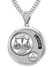 Libra Necklace In Silver With 925 Purity - 4.1mm Cuban Chain