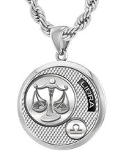 Libra Necklace In Silver With 925 Purity - 4.4mm Rope Chain