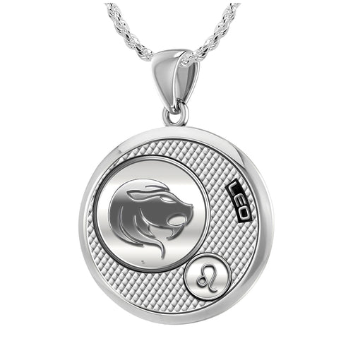 Leo Necklace In Round For Ladies - 1.50mm Rope Chain