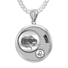 Leo Necklace In Round For Ladies - 2.2mm Curb Chain