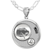 Leo Necklace In Round For Ladies - 2.3mm Figaro Chain