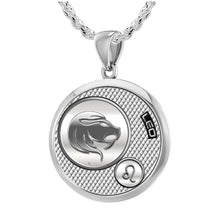 Leo Necklace In Round For Ladies - 2.3mm Rope Chain