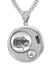 Leo Zodiac Necklace Pendant With Chain - 4.1mm Cuban Chain