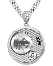 Leo Zodiac Necklace Pendant With Chain - 5.6mm Cuban Chain