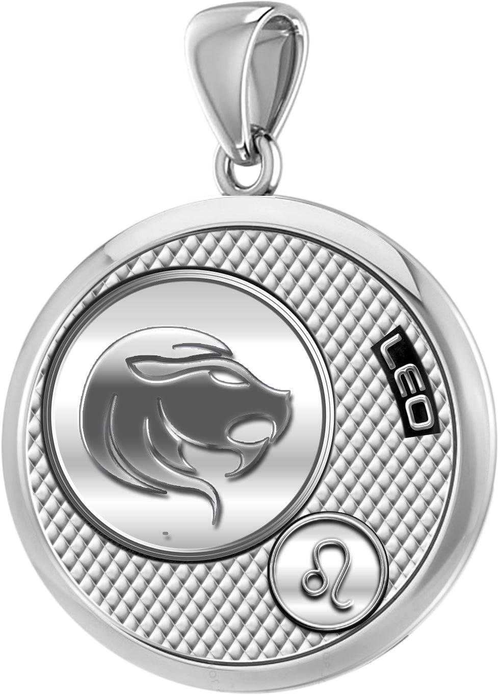 Leo Necklace In Round For Ladies - Pendant Only
