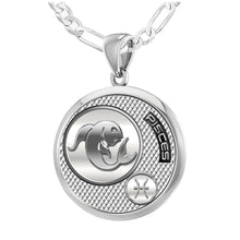 Pisces Necklace In Round For Ladies - 2.3mm Figaro Chain
