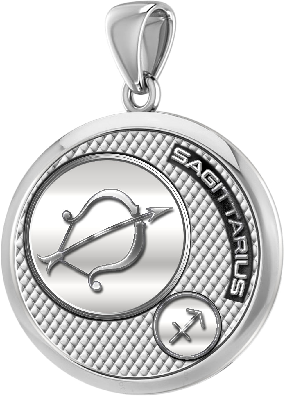 Sagittarius Necklace In Round Shape - Pendant Only