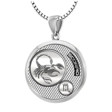 Scorpio Necklace In Polished Finish - 1.5mm Box Chain