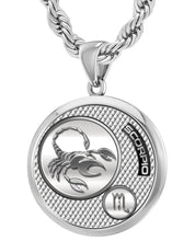 Scorpio Necklace In Silver For Men - 4.4mm Rope Chain