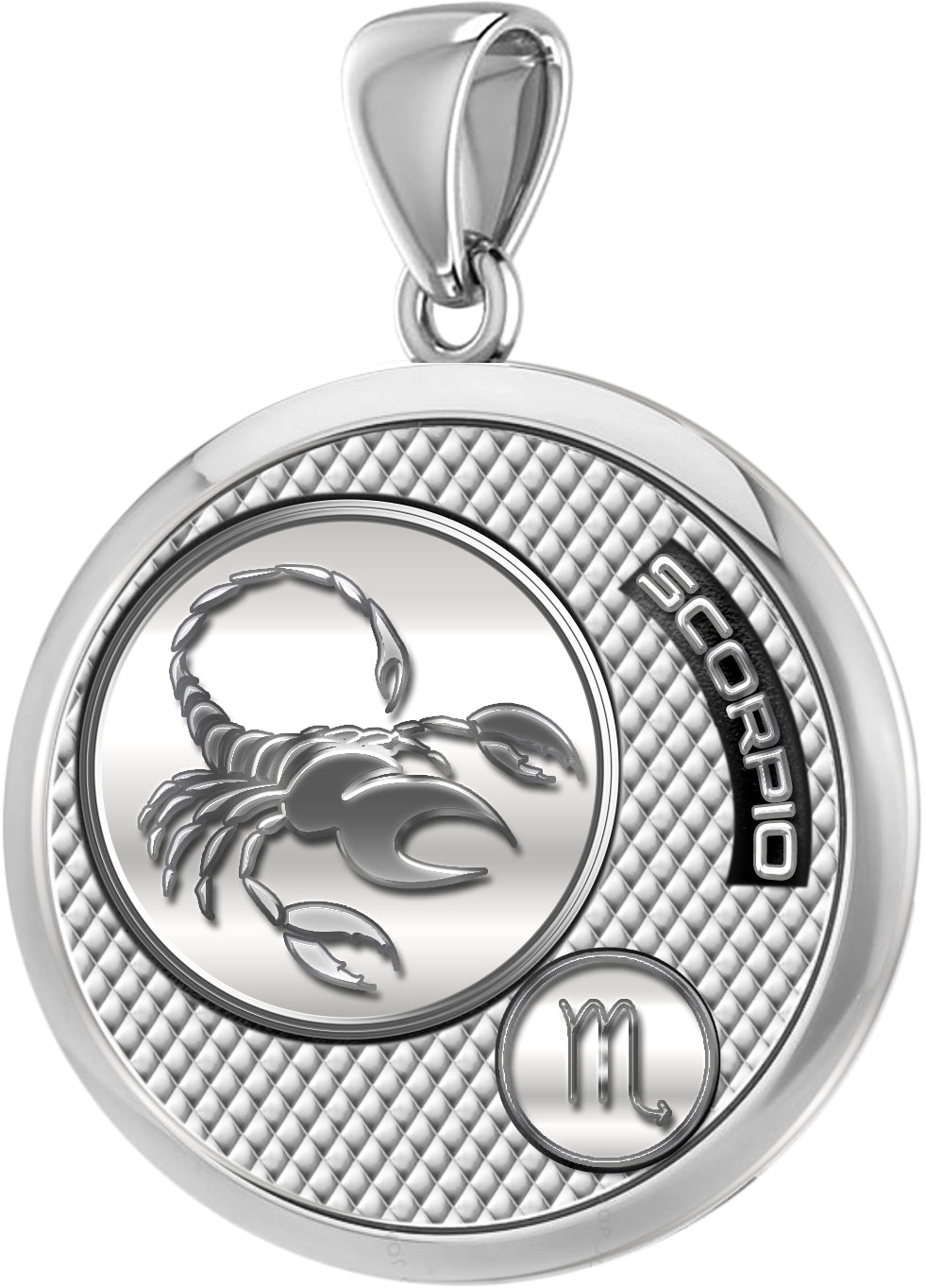 Scorpio Necklace In Polished Finish - Pendant Only