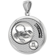 Scorpio Necklace In Silver For Men - Pendant Only